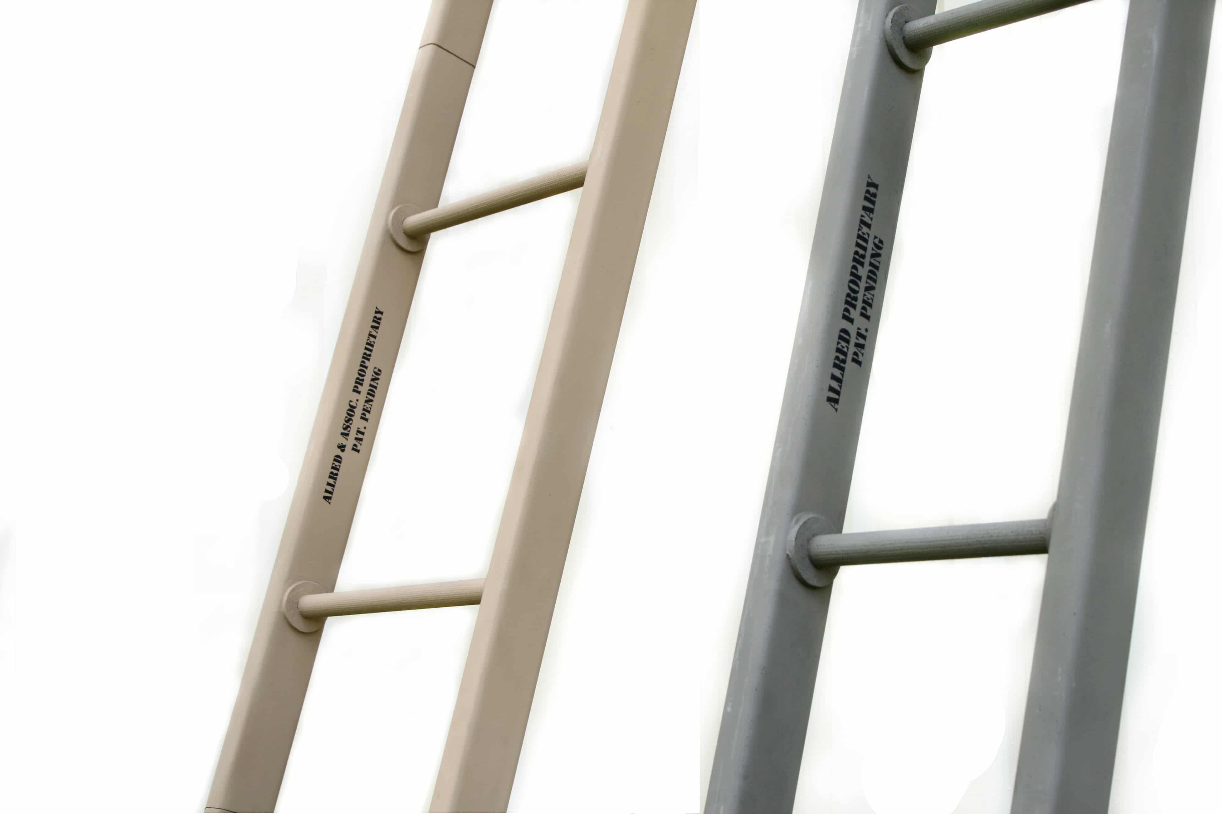 carbon fiber ladder closeup