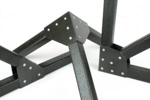 carbon fiber square tubing and gussets